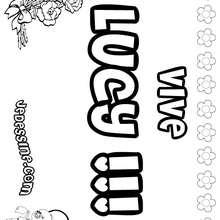 Lucy - Coloriage - Coloriage PRENOMS - Coloriage PRENOMS LETTRE L