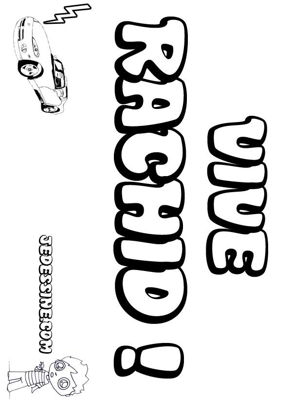 Coloriage prenoms lettre r rachid - Prenom rachid ...