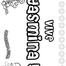 Yasmina - Coloriage - Coloriage PRENOMS - Coloriage PRENOMS LETTRE Y