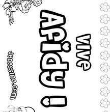 Afidy - Coloriage - Coloriage PRENOMS - Coloriage PRENOMS LETTRE A
