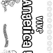 Angelica - Coloriage - Coloriage PRENOMS - Coloriage PRENOMS LETTRE A