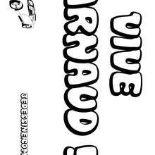 Arnaud - Coloriage - Coloriage PRENOMS - Coloriage PRENOMS LETTRE A