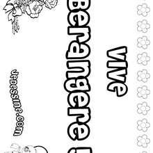 Bérangère - Coloriage - Coloriage PRENOMS - Coloriage PRENOMS LETTRE B