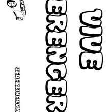 Berenger - Coloriage - Coloriage PRENOMS - Coloriage PRENOMS LETTRE B