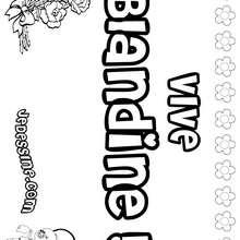 Blandine - Coloriage - Coloriage PRENOMS - Coloriage PRENOMS LETTRE B