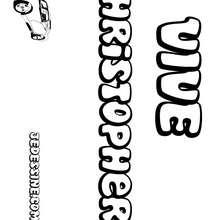 Christopher - Coloriage - Coloriage PRENOMS - Coloriage PRENOMS LETTRE C