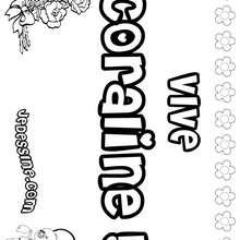 Coraline - Coloriage - Coloriage PRENOMS - Coloriage PRENOMS LETTRE C