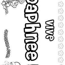 Daphnée - Coloriage - Coloriage PRENOMS - Coloriage PRENOMS LETTRE D