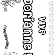 Dorianne - Coloriage - Coloriage PRENOMS - Coloriage PRENOMS LETTRE D
