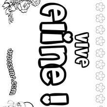 Eline - Coloriage - Coloriage PRENOMS - Coloriage PRENOMS LETTRE E