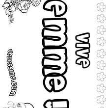 Emme - Coloriage - Coloriage PRENOMS - Coloriage PRENOMS LETTRE E