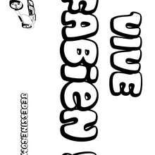 Fabien - Coloriage - Coloriage PRENOMS - Coloriage PRENOMS LETTRE F