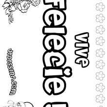 Félécie - Coloriage - Coloriage PRENOMS - Coloriage PRENOMS LETTRE F