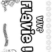 Flavie - Coloriage - Coloriage PRENOMS - Coloriage PRENOMS LETTRE F