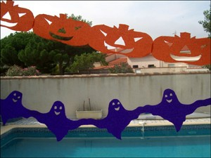 Activit s manuelles fiche bricolage guirlandes d 39 halloween - Guirlande d halloween ...