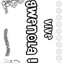 Gwenola - Coloriage - Coloriage PRENOMS - Coloriage PRENOMS LETTRE G