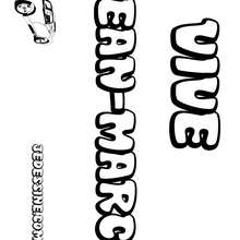Jean-Marc - Coloriage - Coloriage PRENOMS - Coloriage PRENOMS LETTRE J