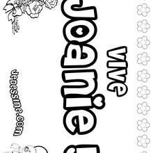 Joanie - Coloriage - Coloriage PRENOMS - Coloriage PRENOMS LETTRE J