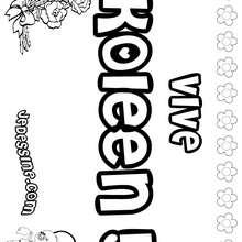 Koleen - Coloriage - Coloriage PRENOMS - Coloriage PRENOMS LETTRE K