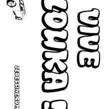 Louka - Coloriage - Coloriage PRENOMS - Coloriage PRENOMS LETTRE L