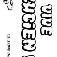 Lucien - Coloriage - Coloriage PRENOMS - Coloriage PRENOMS LETTRE L