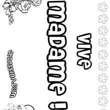 Vive Madame ! - Coloriage - Coloriage PRENOMS - Coloriage PRENOMS LETTRE V