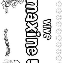 Maxine - Coloriage - Coloriage PRENOMS - Coloriage PRENOMS LETTRE M