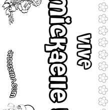Mickaelle - Coloriage - Coloriage PRENOMS - Coloriage PRENOMS LETTRE M