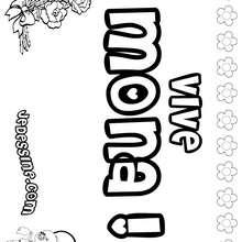 Mona - Coloriage - Coloriage PRENOMS - Coloriage PRENOMS LETTRE M