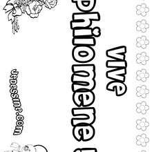 Philomène - Coloriage - Coloriage PRENOMS - Coloriage PRENOMS LETTRE P