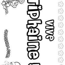 Tiphaine - Coloriage - Coloriage PRENOMS - Coloriage PRENOMS LETTRE T