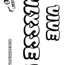 Ulysse - Coloriage - Coloriage PRENOMS - Coloriage PRENOMS LETTRE U