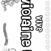 Violaine - Coloriage - Coloriage PRENOMS - Coloriage PRENOMS LETTRE V