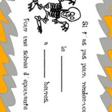 Coloriage d'un squelette - Coloriage - Coloriage FETES - Coloriage HALLOWEEN - Coloriage CARTES INVITATION HALLOWEEN