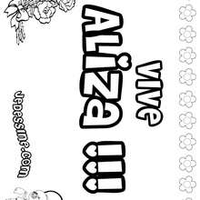 Aliza - Coloriage - Coloriage PRENOMS - Coloriage PRENOMS LETTRE A