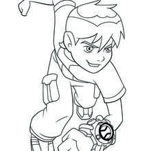 Coloriage de Ben 10 - Coloriage - Coloriage DESSINS ANIMES - Coloriage CARTOON NETWORK - Coloriage BEN 10