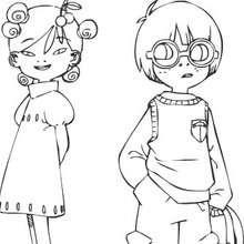 Coloriage en ligne de Aiko et Léonard