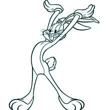 Coloriage : Bugs Bunny les mains en l'air