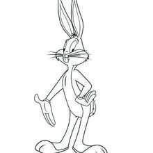 Coloriage : La pose de Bugs Bunny