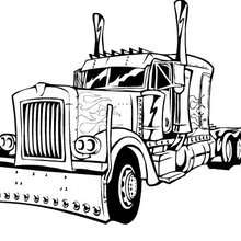 Coloriage en ligne de Camion