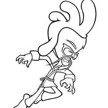 Coloriage : Chuckie Chan à l'attaque