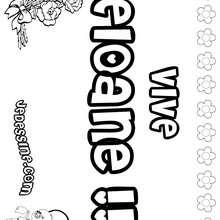 Eloane - Coloriage - Coloriage PRENOMS - Coloriage PRENOMS LETTRE E