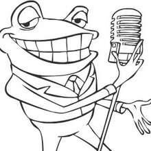 Coloriage en ligne de grenouille à la guitare