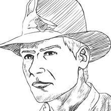 Coloriage en ligne d'Indiana Jones