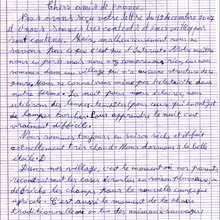 Courrier du 9/04/08 : page 1 - Lecture - REPORTAGES pour enfant - Aide et Action - 3ème vague de correspondance du TOGO