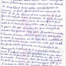 Reportage : Lettre N°2