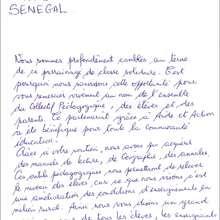 La lettre des enfants - Lecture - REPORTAGES pour enfant - Aide et Action - 3ème vague de correspondance du SENEGAL - Courrier du 14 mai 2008