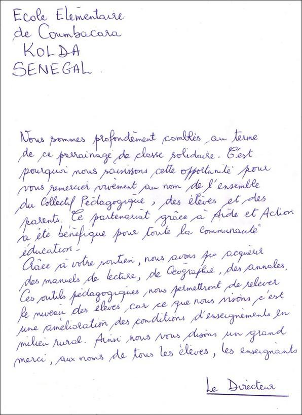 Contes pour enfants la lettre des enfants du s n gal lire - Lettre chambre enfant ...