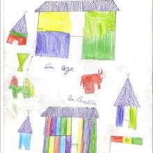 Maisons du village - Lecture - REPORTAGES pour enfant - Aide et Action - 3ème vague de correspondance du SENEGAL - Courrier du 14 mai 2008