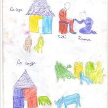 Maisons et personnages - Lecture - REPORTAGES pour enfant - Aide et Action - 3ème vague de correspondance du SENEGAL - Courrier du 14 mai 2008